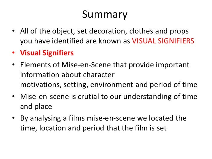 mise en scene in the mummy The arrangement of everything that appears in the framing – actors, lighting,  décor, props, costume – is called mise-en-scène, a french term.