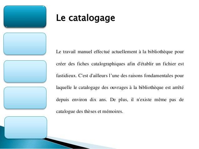 Mise en œuvre de l'informatisation des bibliothèques et centres de documentation Slide 3