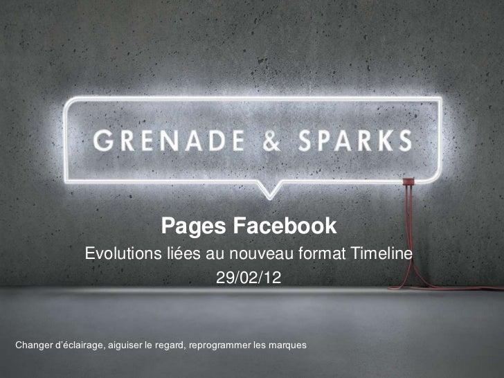 Pages Facebook               Evolutions liées au nouveau format Timeline                                 29/02/12Changer d...