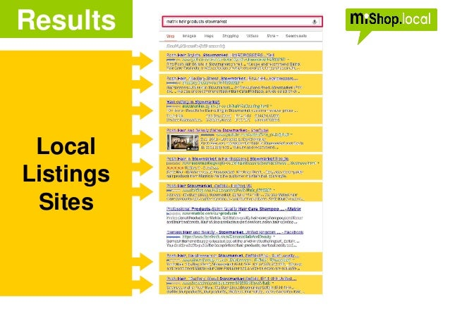 Local Listings Sites Results