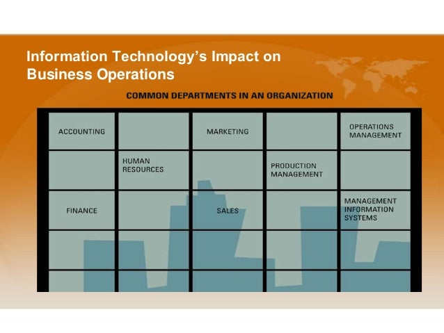 Impact of Information Technology in an Organization