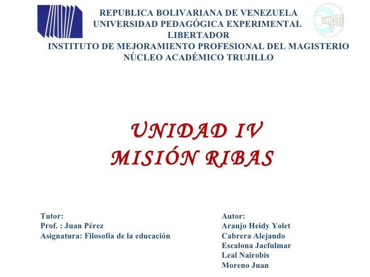 REPUBLICA BOLIVARIANA DE VENEZUELA           UNIVERSIDAD PEDAGÓGICA EXPERIMENTAL                        LIBERTADOR   INSTI...