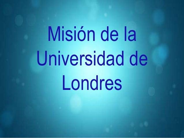 Misión de la Universidad de Londres