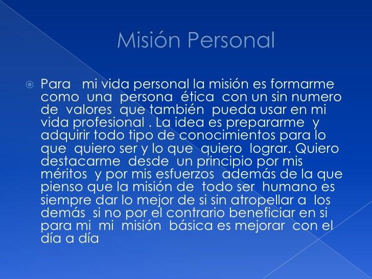 Misión & visión personal a ndrea Slide 2