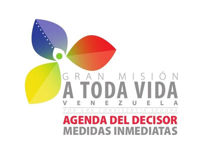 AGENDA DEL DECISORMEDIDAS INMEDIATAS