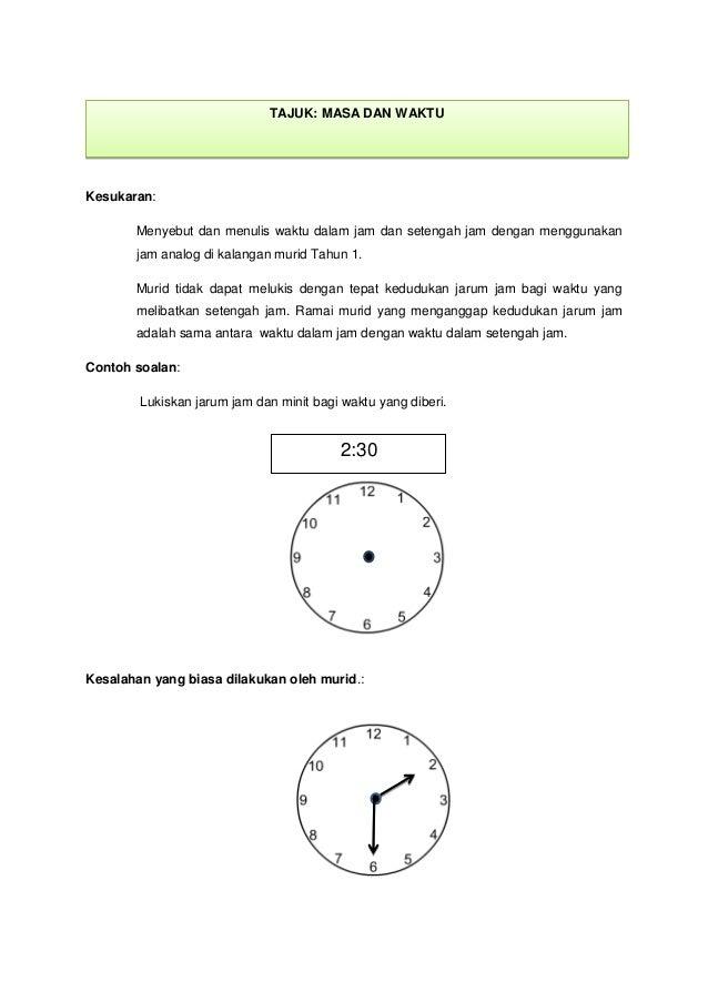 Miskonsepsi Masa Dan Waktu Tahun 1