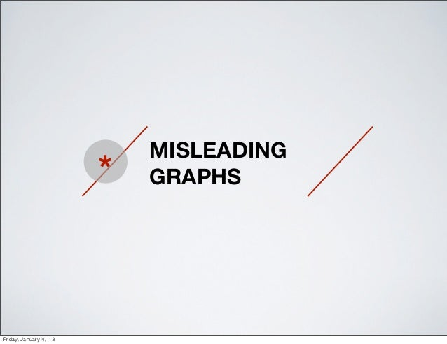 MISLEADING                           *   GRAPHSFriday, January 4, 13