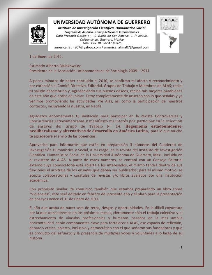 2011 y los desafíos para ALAS
