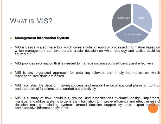 mis 3534 executive report 2 Executive support system - learn management information system (mis) features of executive information system advantages of ess.