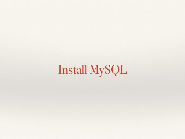 MIS MySQL 入門 Slide 2