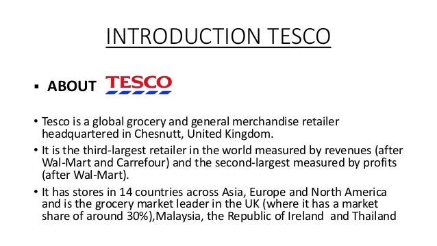 Tesco Marketing Management In Malaysia Essay