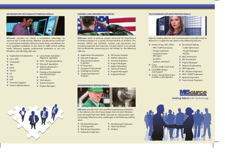 INFORMATION TECHNOLOGY PROFESSIONALS                                FEDERAL AND DEFENSE SOLUTIONS                         ...