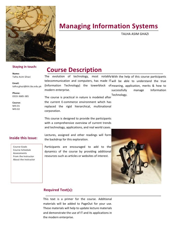 Managing Information Systems                                                                                  TALHA ASIM G...