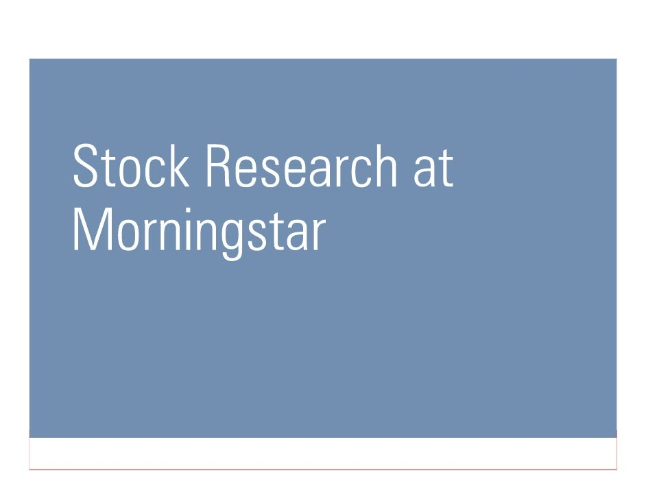Morningstar Investments Overview