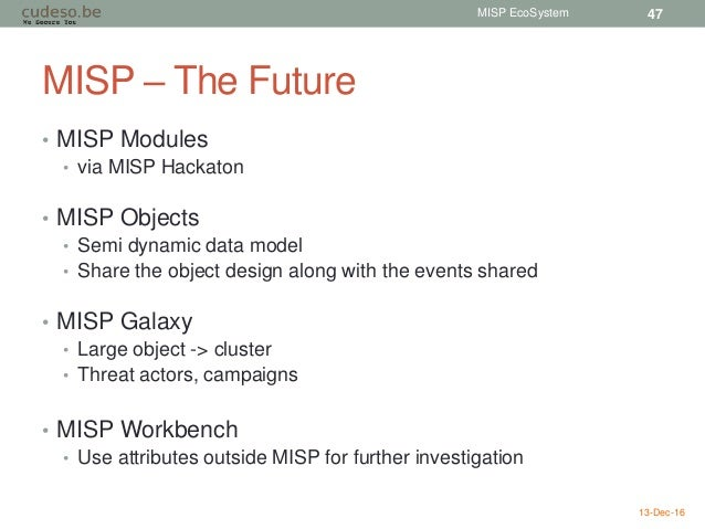 MISP EcoSystem - Threat Intelligence, VMRay, MISP