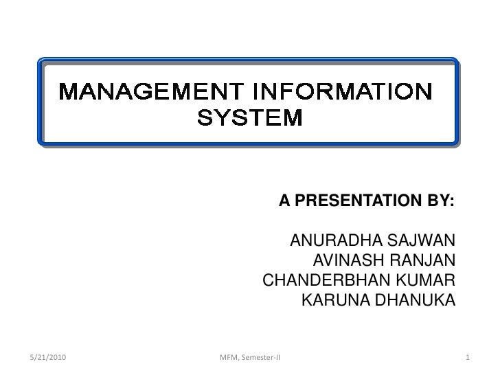 MIS (Management Information System) in Fashion & Textile