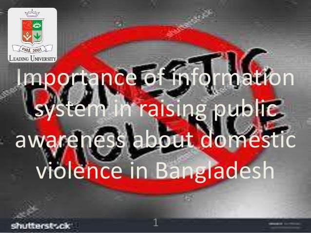 1 Importance of information system in raising public awareness about domestic violence in Bangladesh