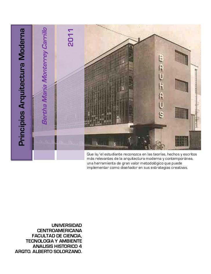 2011                                  Bertha Maria Monterrey CarrilloPrincipios Arquitectura Moderna                      ...