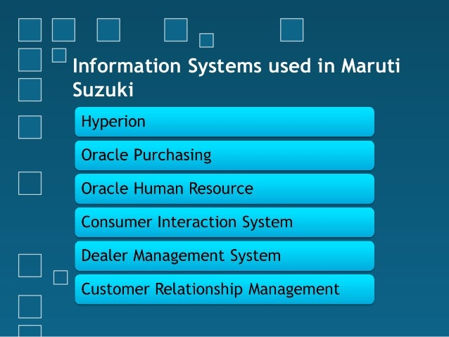 Management Information Systems In Maruti Suzuki