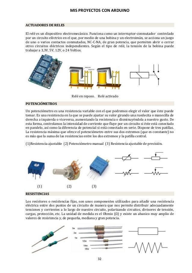 MIS PROYECTOS CON ARDUINO 33 CONDENSADORES Un condensador es un dispositivo empleado en electrónica para almacenar energía...