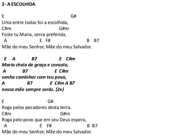 A ESCOLHIDA CIFRA PDF DOWNLOAD