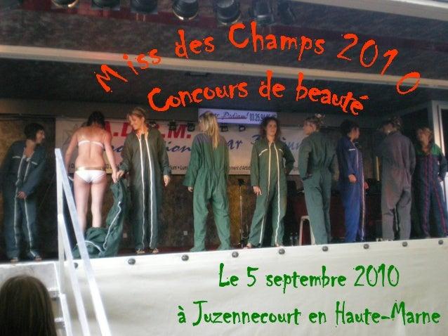 Miss des Champs 2008