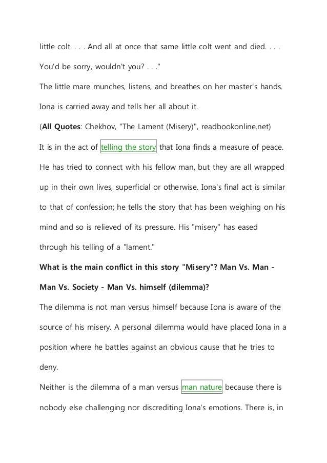 The lament short story summary