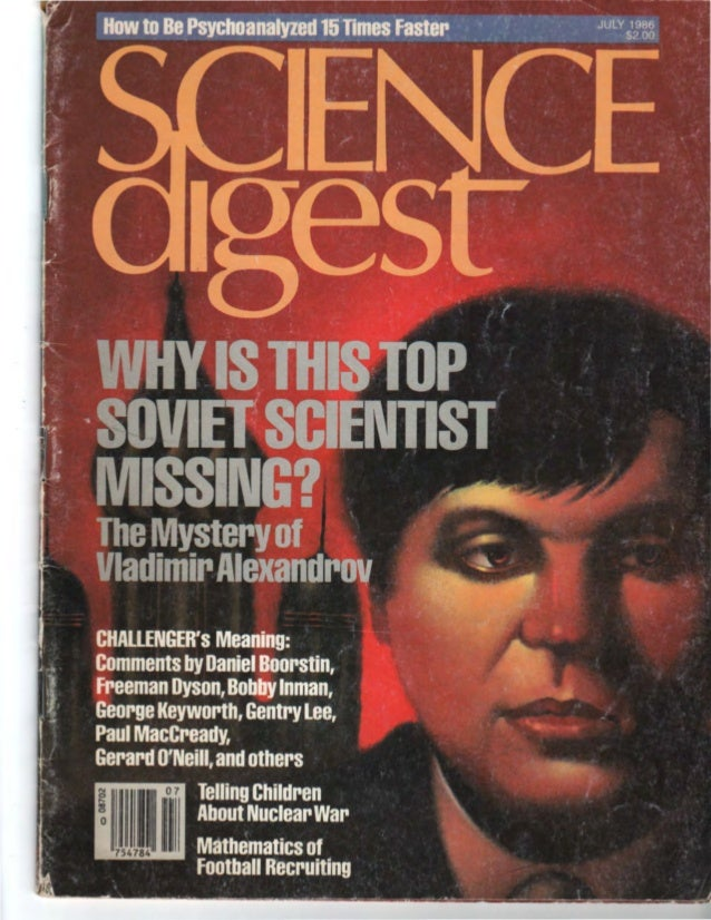 "COVER STORY TheCurious Case ofV1adimirAlexandrov ""Dear Sir, The mother and the wife of a Soviet scientist Vladimir Alexand..."