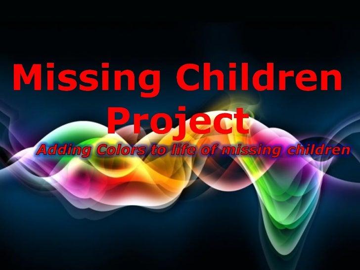 Missing children project free powerpoint templates toneelgroepblik Images