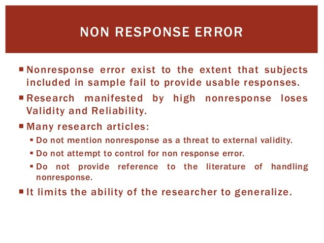 Missing Data And Non Response Pdf