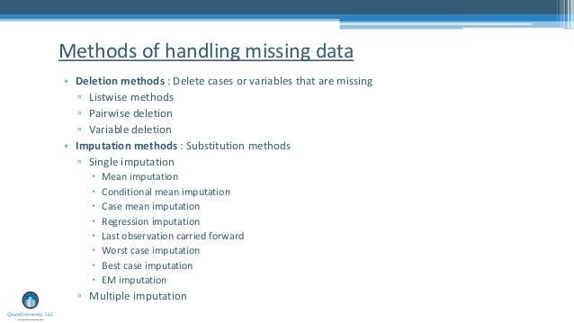 Missing data handling