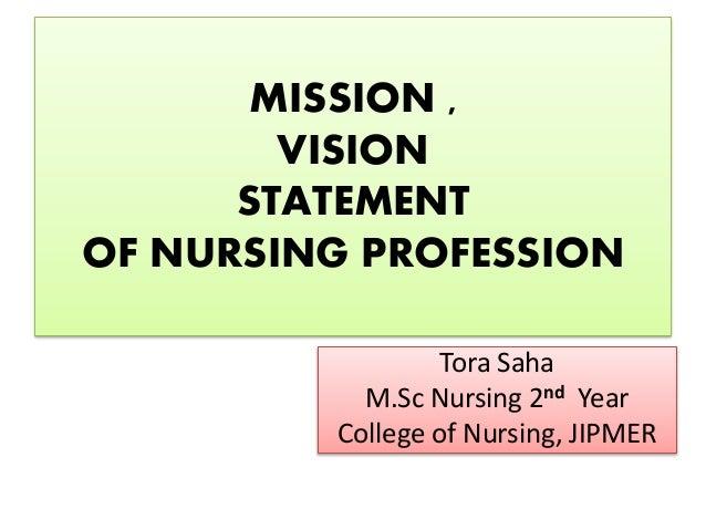 Mission of nursing profession