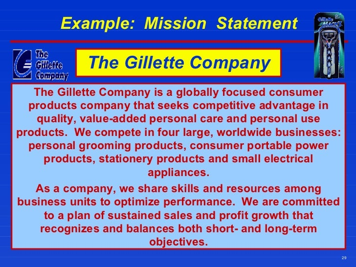 mission statement of gillette Our mission statement blakeman propane is dedicated to creating and keeping loyal customers through continuous improvement of all products, services, and processes.