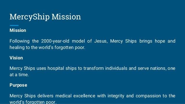 Mission of Charitable Hospital Ship MercyShip Slide 3