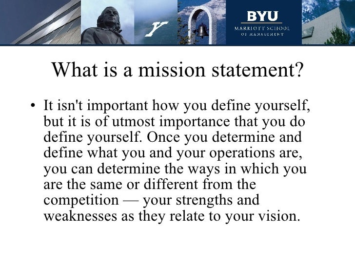 Mission Statement Importance. A Vision Usually Proceeds The