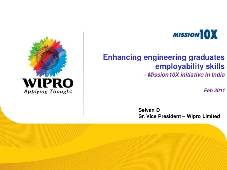 Enhancing engineering graduates             employability skills           - Mission10X initiative in India               ...