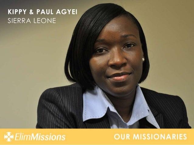 Elim Missions Missionary Profiles