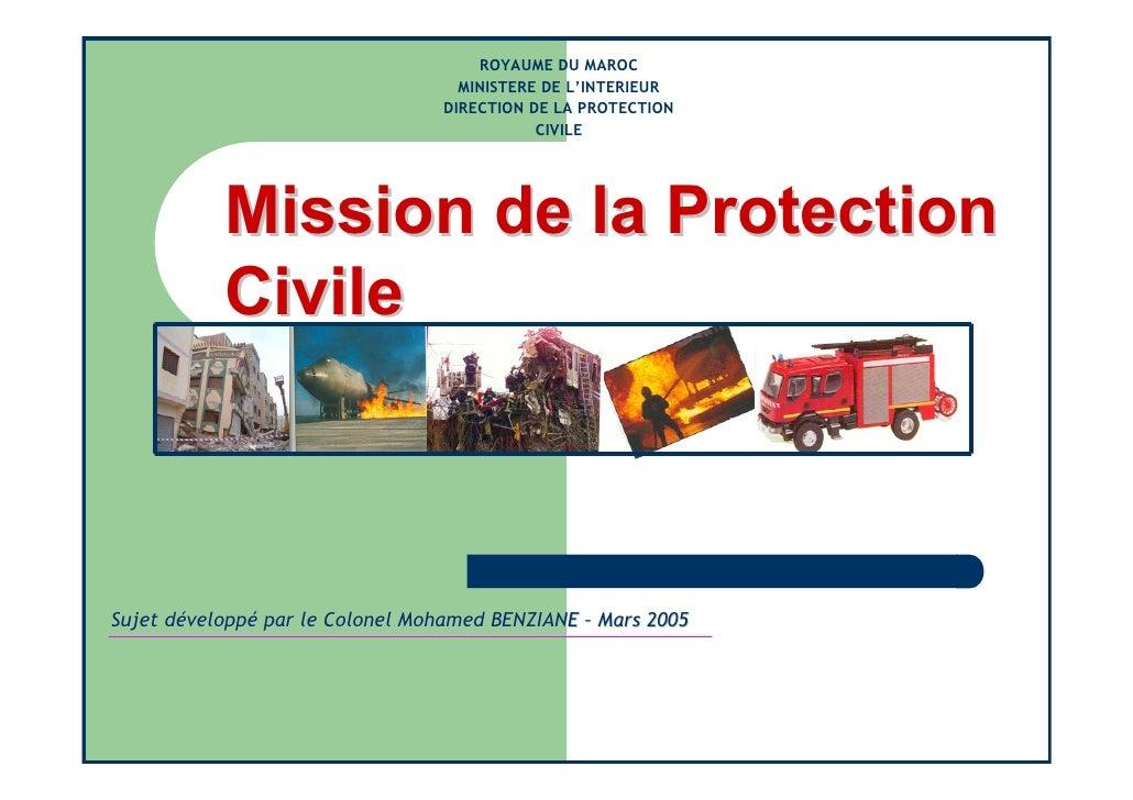 ROYAUME DU MAROC                                    MINISTERE DE L'INTERIEUR                                  DIRECTION DE...