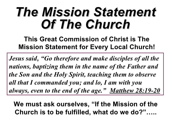 Great mission statements