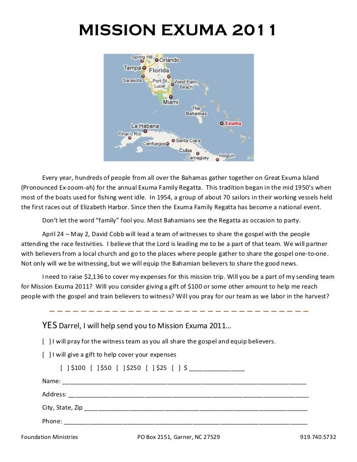 MISSION EXUMA 2011        Every year, hundreds of people from all over the Bahamas gather together on Great Exuma Island(P...