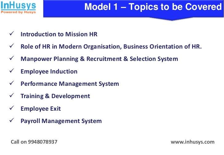 Missionhr Practical Core Hr Training Program