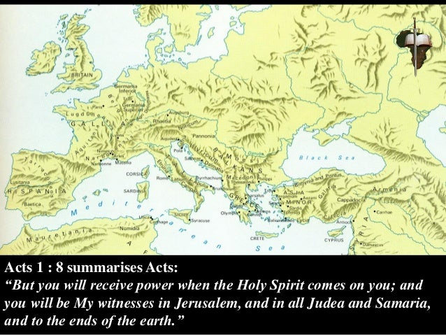 Jerusalem Judea Samaria And The Ends Of The Earth Map.Missions In The Bible