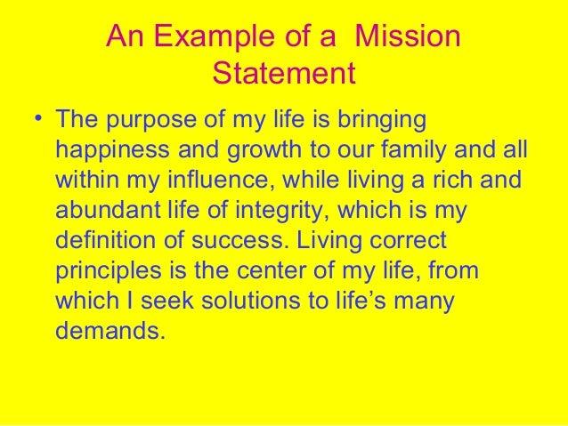 Life Mission Statement Acurnamedia