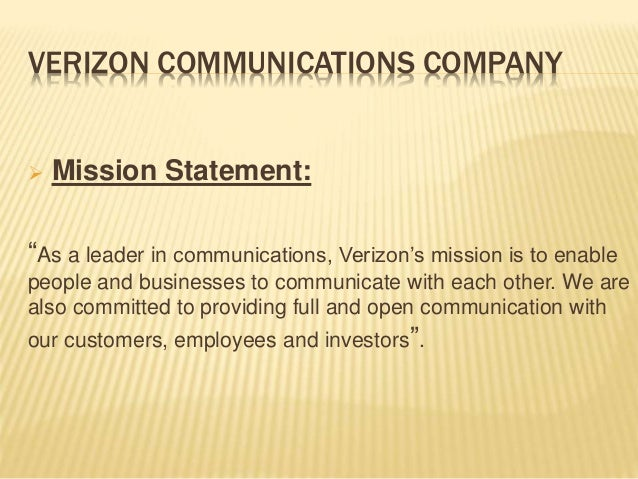 compare the mission statements of verizon tmobile and at t T-mobile woos verizon customers by offering phones with to stick with verizon can return the t-mobile said in a statement t-mobile's 4g lte network.