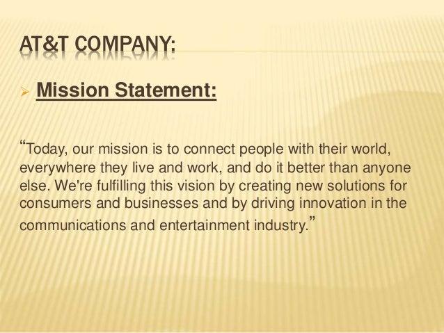 Mission statement: Verizon VS AT&T