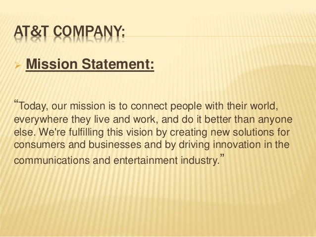 Mission Statement Verizon Vs AtT