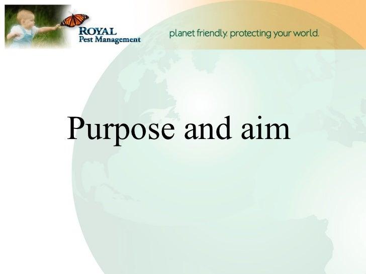 Purpose and aim