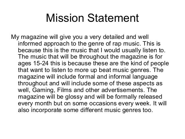 detailed mission statement