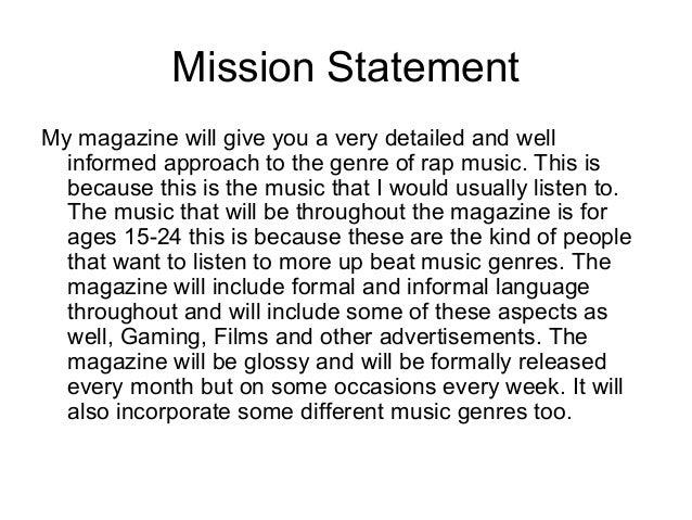 detailed mission statement