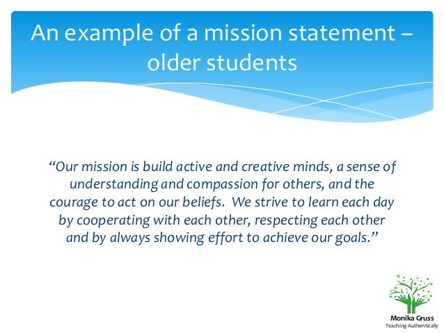 How to Create a Classroom Mission Statement